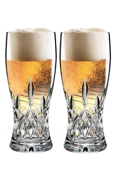 Waterford Lismore Pint Beer Glass, Pair