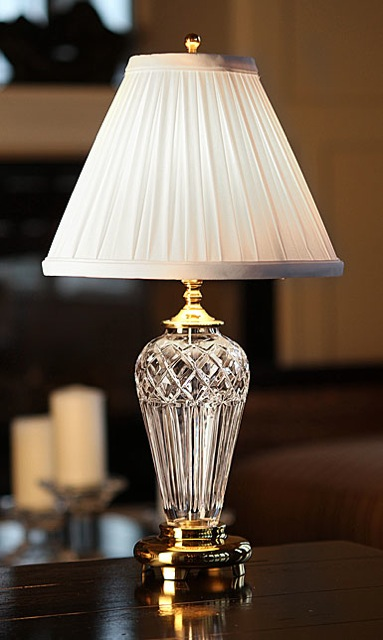 Waterford Belline Lamp and Shade, 18