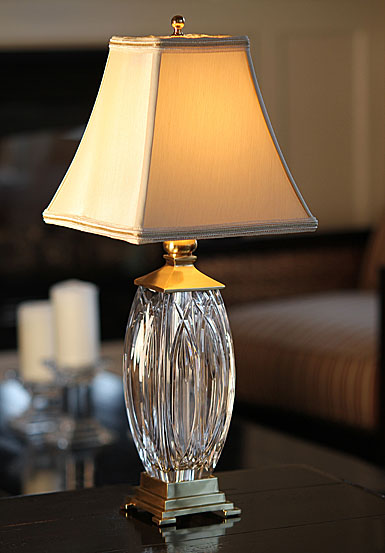 Waterford Finn 19in accent lamp with ecru shade