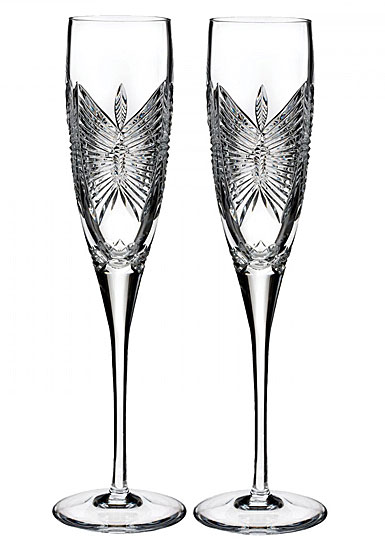 Waterford Love Happiness Flute, Pair