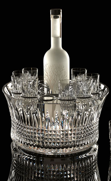 """Waterford House of Waterford Lismore Diamond 12"""" Bowl Vodka Chill Set"""