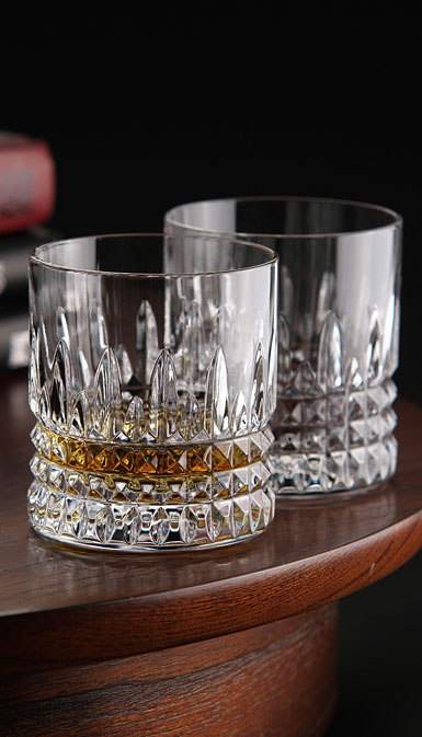 Waterford Lismore Diamond Straight Sided Whiskey Tumbler Pair