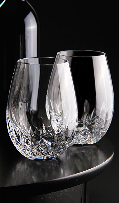 Waterford Lismore Nouveau Stemless Deep Red Wine Glasses, Pair