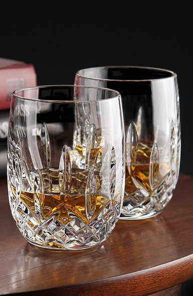 Waterford Lismore Rounded Whiskey Tumbler, Pair