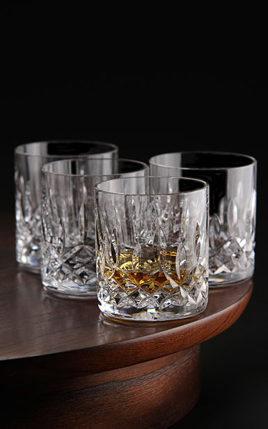 Waterford Lismore Straight Sided Whiskey Tumbler, Set of Four