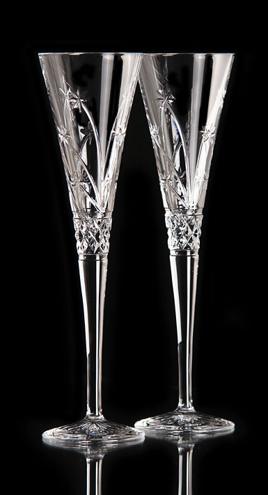 Waterford Wishes Believe Toasting Flutes Pair