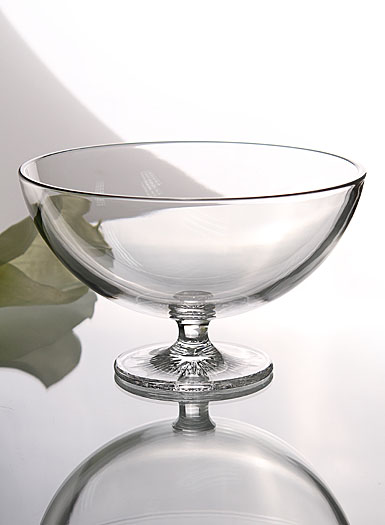 "Waterford Clear Light Footed 8"" Bowl"
