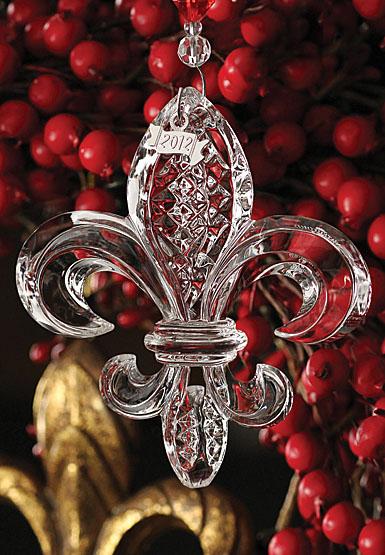 Waterford fleur de lis ornament
