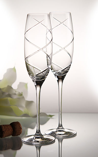 Waterford Crosswoods Toasting Flight Flute, Pair