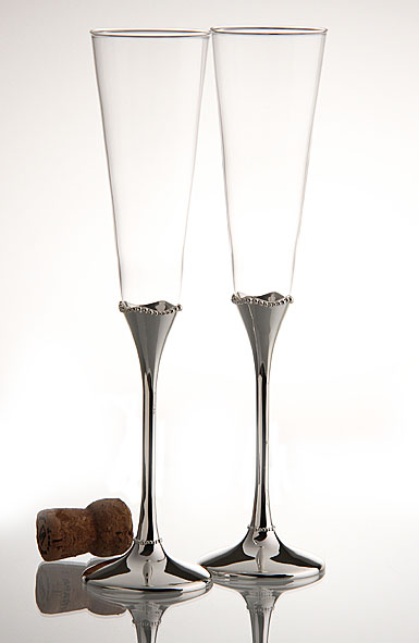 Waterford Lismore Champagne Flute, Pair
