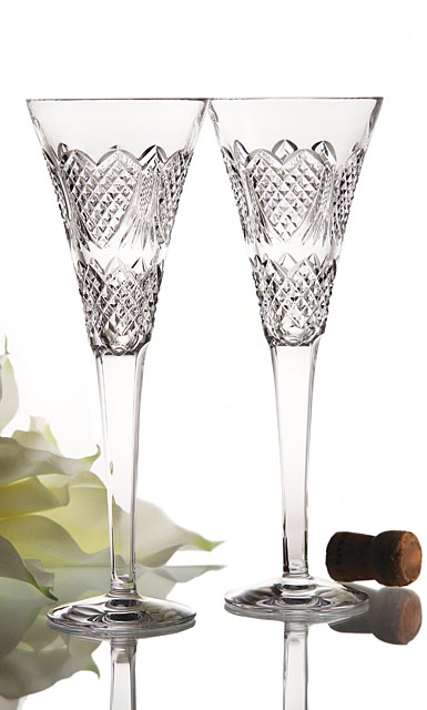 Waterford Wedding Heirloom Toasting Flute, Pair
