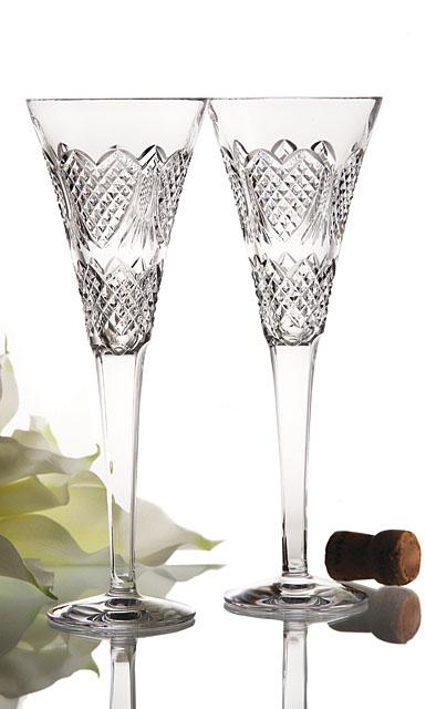Waterford Wedding Heirloom Flutes, pair