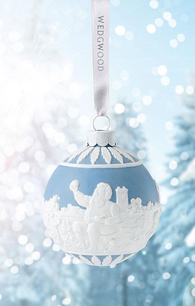 Wedgwood 2017 Santa's Workshop Blue Ornament