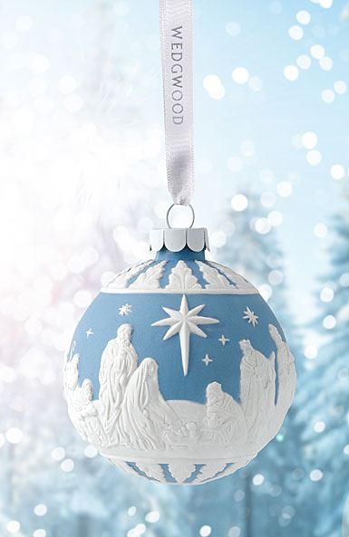 Wedgwood 2017 Nativity Blue Ornament