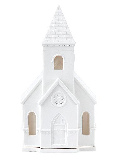 Wedgwood White Church Lithophane