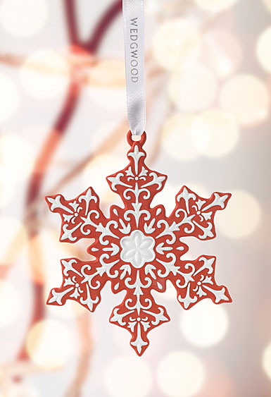 Wedgwood 2017 Snowflake Red Ornament