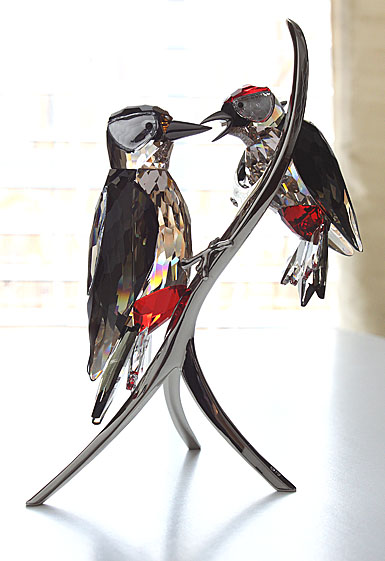 Swarovski Paradise Woodpeckers, Black Diamond