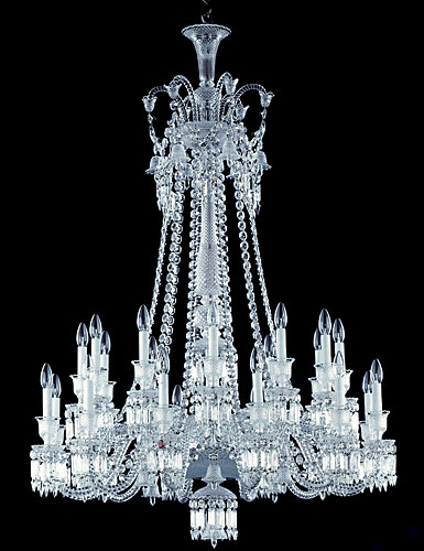 Baccarat Zenith Long Chandelier, 24 Light